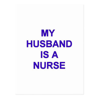 Husband Nurse Postcard