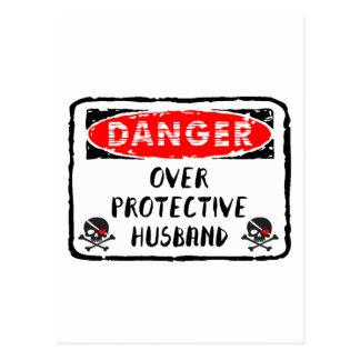 Husband Over Protective Postcard