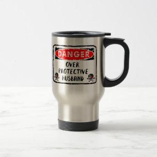 Husband Over Protective Stainless Steel Travel Mug