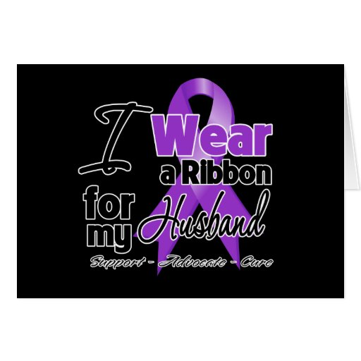 Husband - Pancreatic Cancer Ribbon Greeting Card
