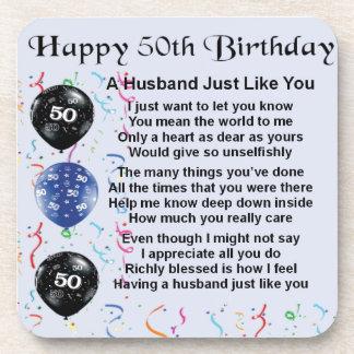 Husband Poem - 50th Birthday Coaster