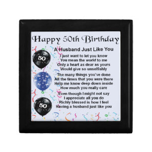 50th Birthday Gift Boxes Keepsake