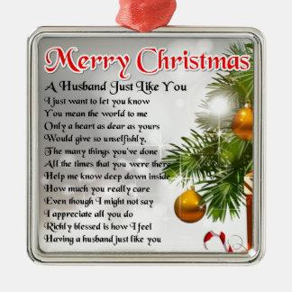 Husband Poem - Christmas Design Christmas Ornament