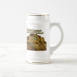Husband s Rock-Solid White Beer Stein Coffee Mug