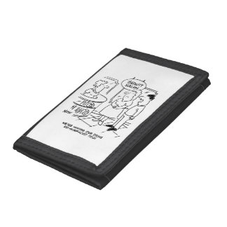 Husband says they're having drive resurfaced too tri-fold wallets