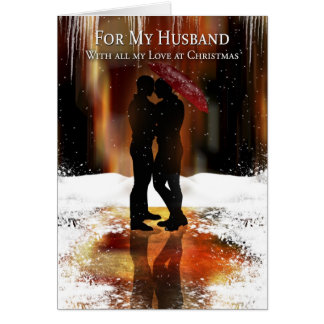 Husband Stylish Holiday Card With Gay Couple