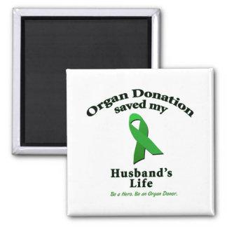 Husband Transplant Square Magnet