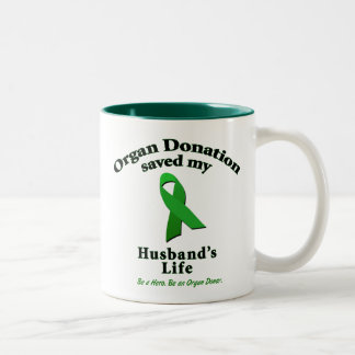 Husband Transplant Two-Tone Coffee Mug