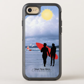 Husband & Wife Silhouette Let's Go Surfing Version OtterBox Symmetry iPhone 8/7 Case
