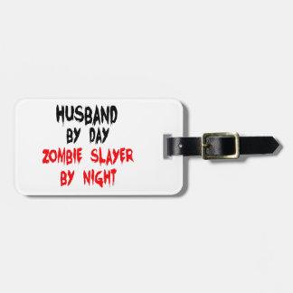 Husband Zombie Slayer Luggage Tag