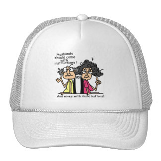 Husbands and Wives Attitude Humor Trucker Hats