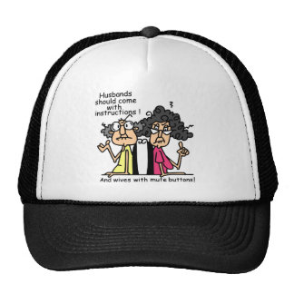 Husbands and Wives Attitude Humor Hat