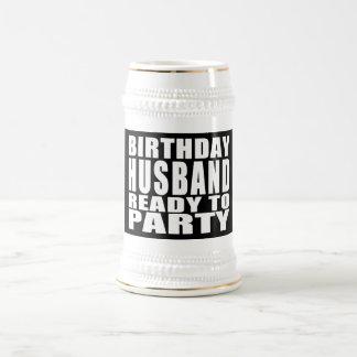 Husbands Birthday Husband Ready to Party Coffee Mugs