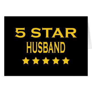 Husbands Birthdays Valentines : Five Star Husband Note Card