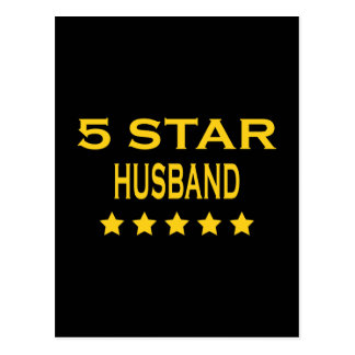 Husbands Birthdays Valentines : Five Star Husband Post Cards