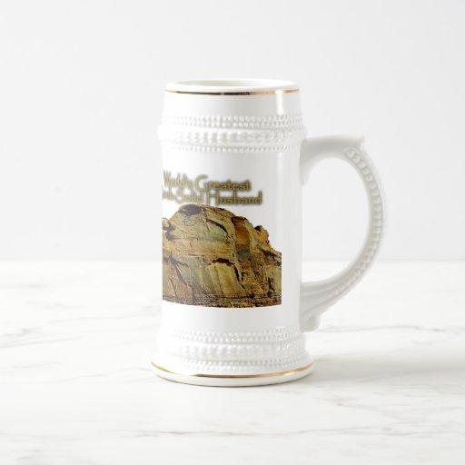 Husband's Rock-Solid White Beer Stein Coffee Mug