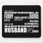 Husbands Wedding Anniversaries Birthdays Qualities Mouse Mats