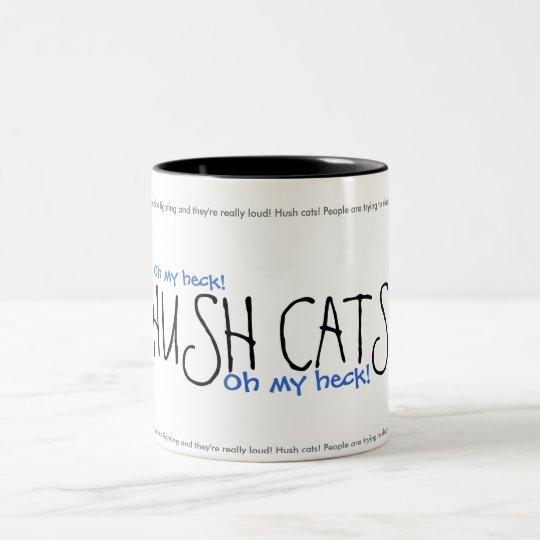 HUSH CATS! Ver. 2 Two-Tone Coffee Mug