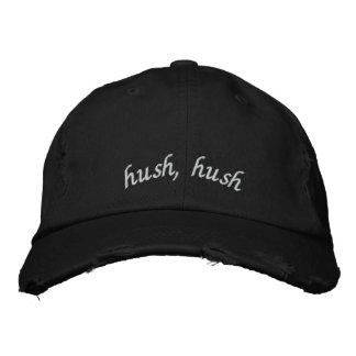Hush Hush Hat Embroidered Baseball Caps