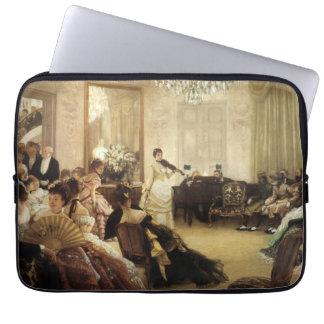 Hush, the Concert by James Tissot Fine Art Laptop Sleeve