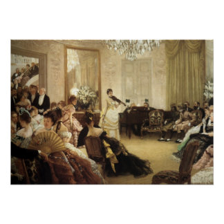 Hush, The Concert by James Tissot Poster