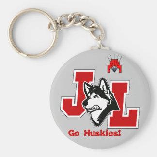 Huskies: Key to Success Basic Round Button Key Ring