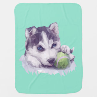 Husky Blues Swaddle Blankets