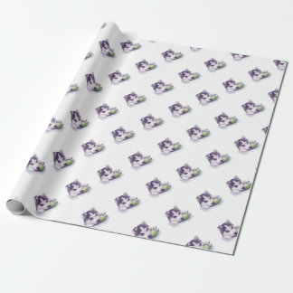 Husky Blues Wrapping Paper