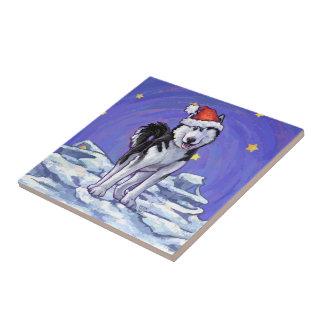 Husky Christmas Ceramic Tiles