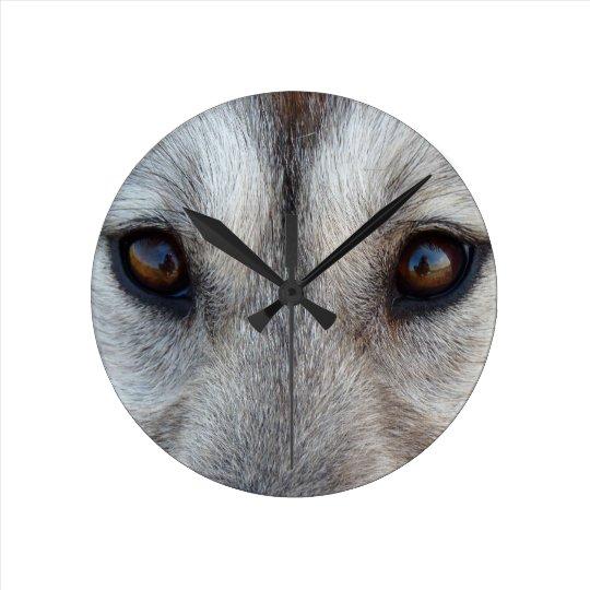 Husky Clock Gifts Decor Wolf Dog Wall Clock