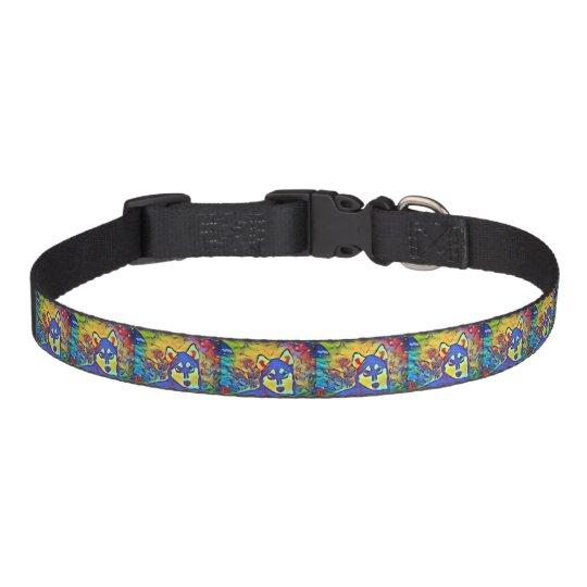 Husky Colourful Pet Dog Collar
