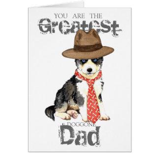 Husky Dad Greeting Card