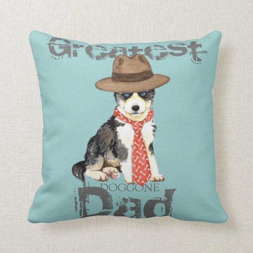 Husky Dad Throw Pillow