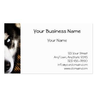 Husky Dog Blue Eye Border Business Card