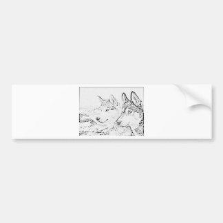 Husky dogs bumper stickers