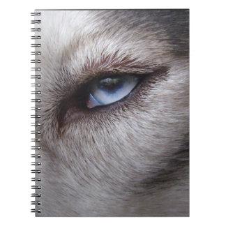 Husky Eye Notebook Siberian Husky Gifts & Books