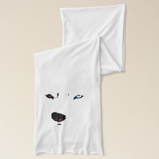 Husky Eyes  Scarf Husky Wolf Dog Scarves & Gifts