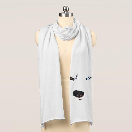 'Husky Eyes Scarf Husky Wolf Dog Scarves & Gifts