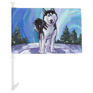 Husky Gifts & Accessories Car Flag