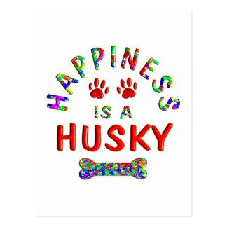 Husky Happiness Postcard