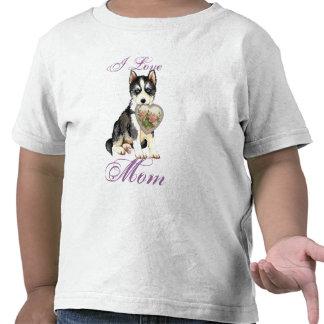 Husky Heart Mom T Shirts