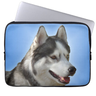 Husky Laptop Case Siberian Husky Eyes Gifts Laptop Computer Sleeve