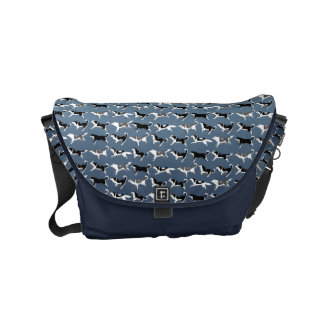 Husky Messenger Bag Sled Dog Travel Bags Custom