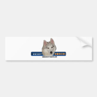 Husky Owners Bumper Sticker