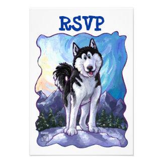 Husky Party Center Invite