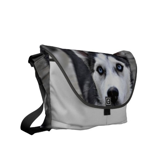 Husky Puppy Messenger Bag
