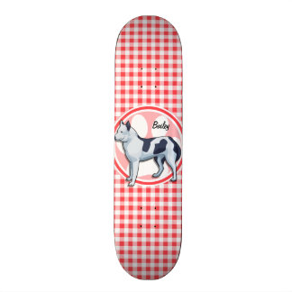 Husky; Red and White Gingham 19.7 Cm Skateboard Deck