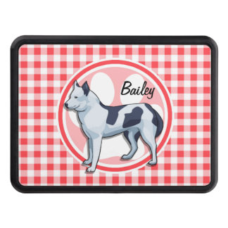 Husky; Red and White Gingham Trailer Hitch Covers