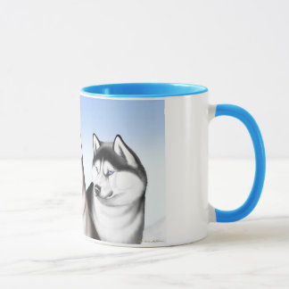 Husky Sled Dogs Coffee Mug