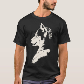 Husky T-Shirt Husky / Wolf Art Tee Dog Shirts